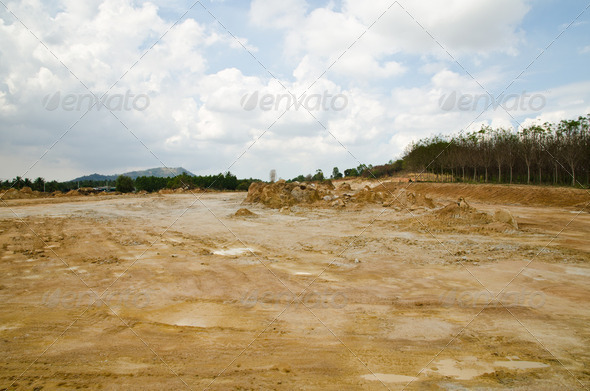 Land of construction. - Stock Photo - Images