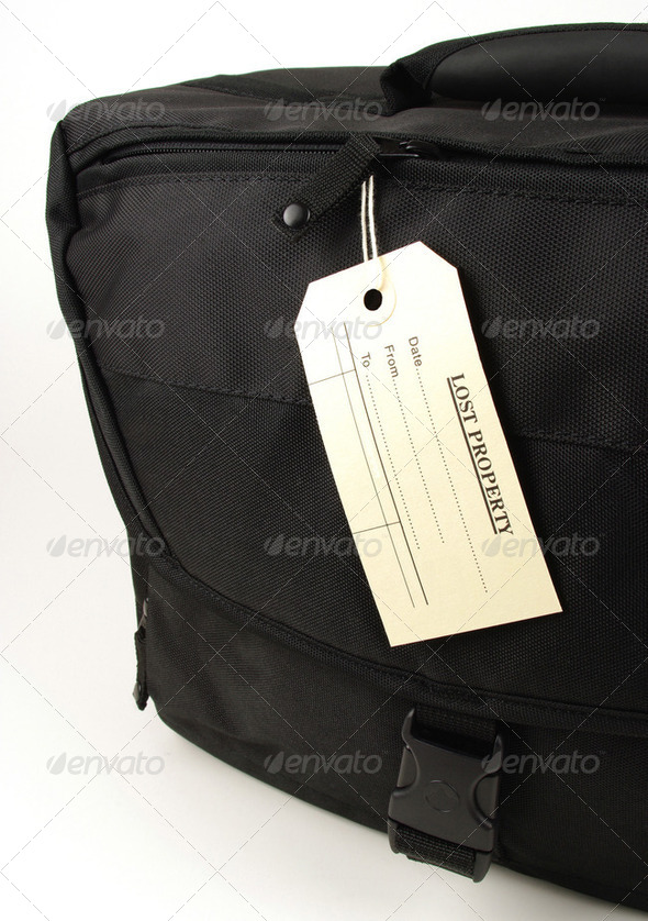 lost property black bag - Stock Photo - Images