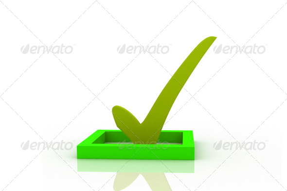 Check mark - Stock Photo - Images