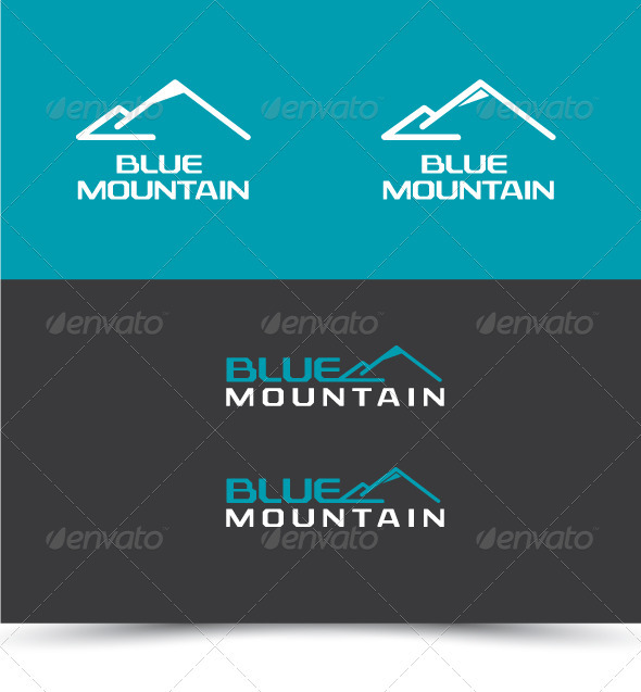 Blue Mountain - Nature Logo Templates
