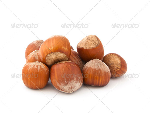 Hazelnuts - Stock Photo - Images