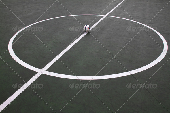 Futsal field - Stock Photo - Images