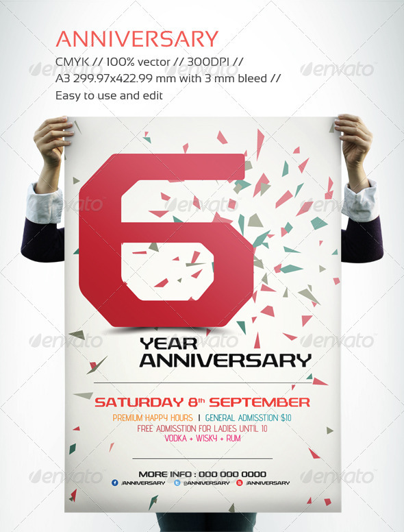 GraphicRiver Anniversary Flyer 2942569