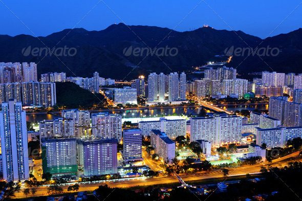 Hong Kong crowded urban - Stock Photo - Images