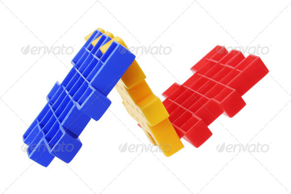 Plastic Puzzle Pieces - Stock Photo - Images