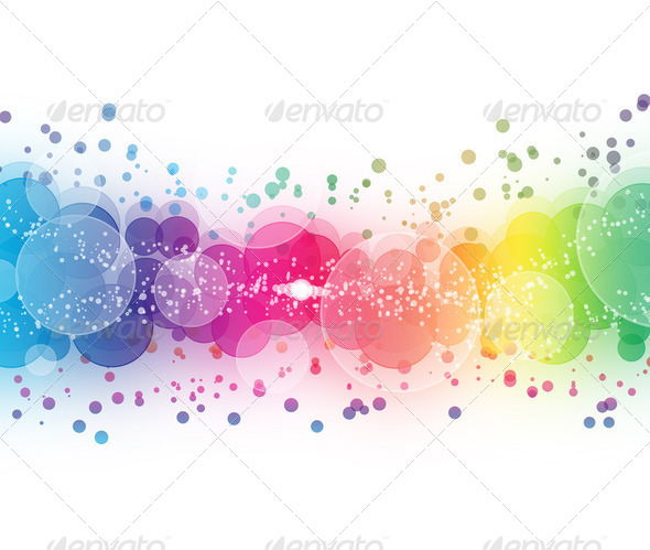 Abstract on a colorful background digital bokeh effect - Stock Photo - Images