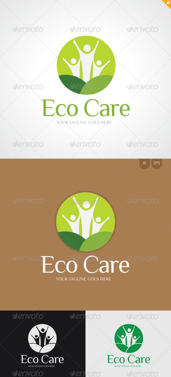 GraphicRiver Eco Care Logo 3347733