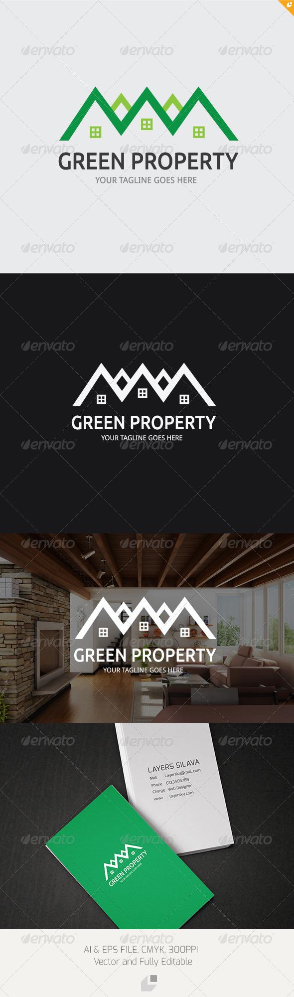 GraphicRiver Green Property Logo 3320881