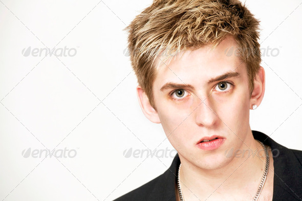 Serious male face - Stock Photo - Images