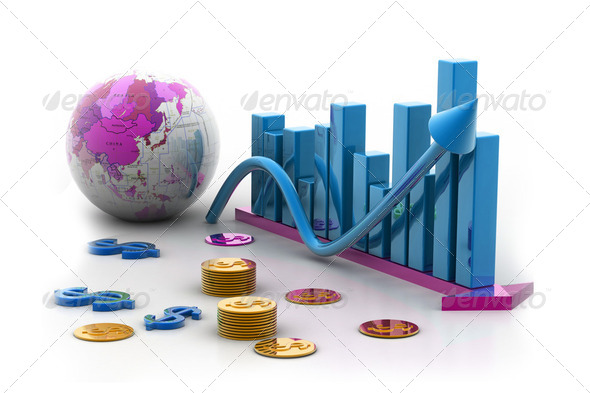 Business graph - Stock Photo - Images