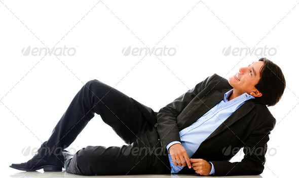 Businessman dreaming - Stock Photo - Images