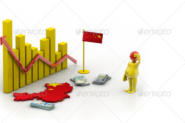 china map and currency - Stock Photo - Images