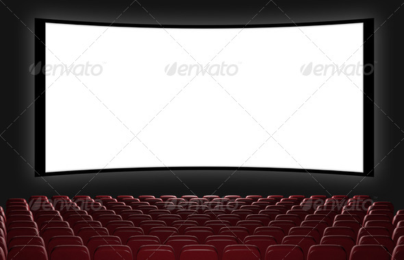 Cinema auditorium - Stock Photo - Images