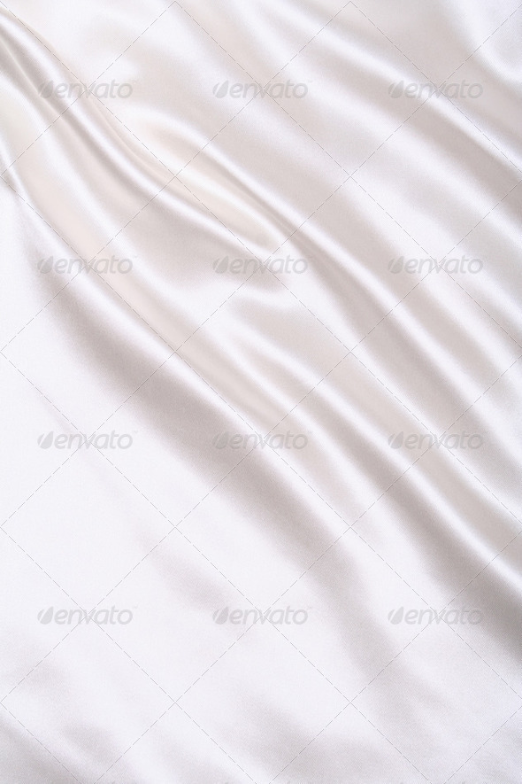 Smooth elegant white silk as wedding background - Stock Photo - Images