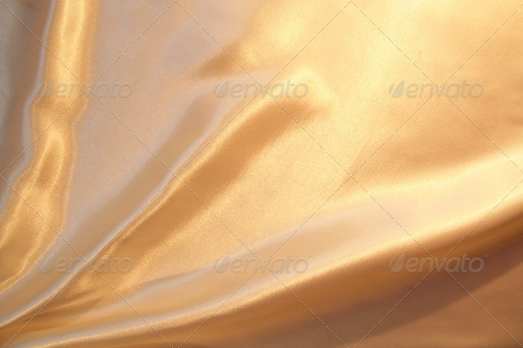 Smooth elegant gold satin as background - Stock Photo - Images