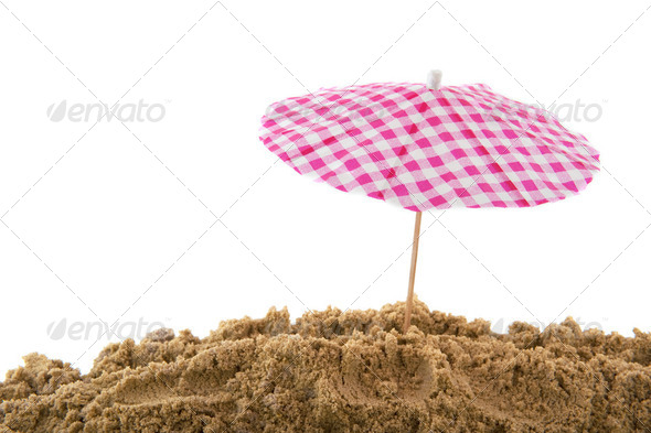 parasol at the beach - Stock Photo - Images
