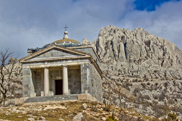 Stone church on Velebit mountain - Stock Photo - Images