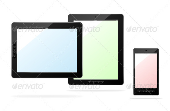 Vector tablet computer - Stock Photo - Images