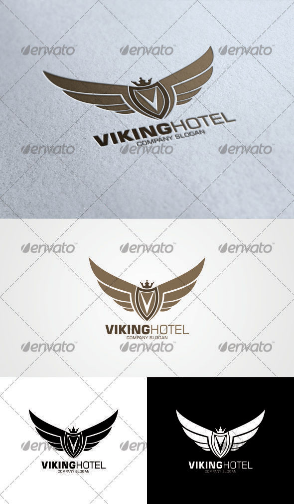 GraphicRiver Viking Hotel Logo Template 3348475