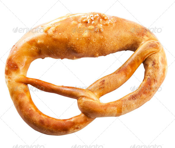 Bavarian brezel - Stock Photo - Images