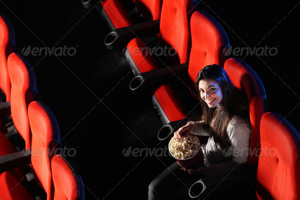 at cinema - Stock Photo - Images