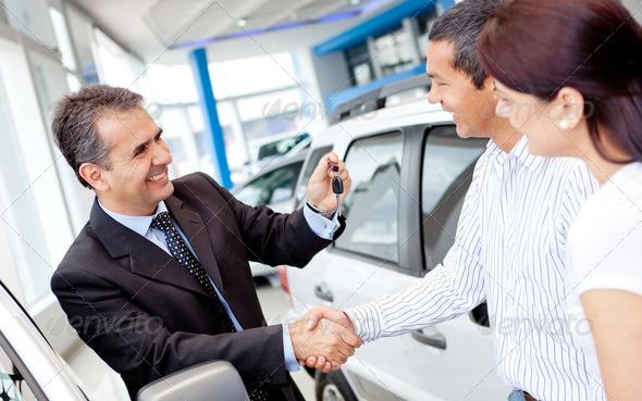 PhotoDune Couple buying a car 2337873