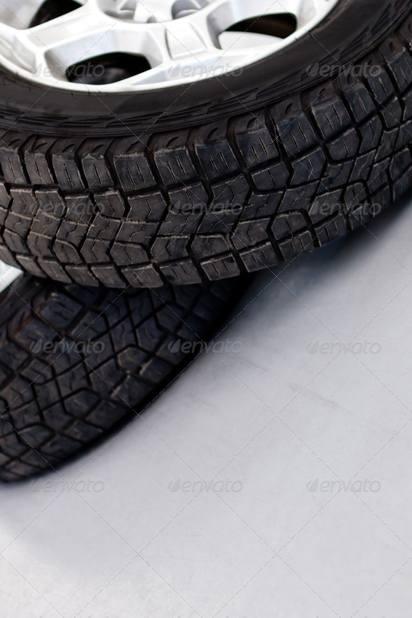 Car wheels - Stock Photo - Images