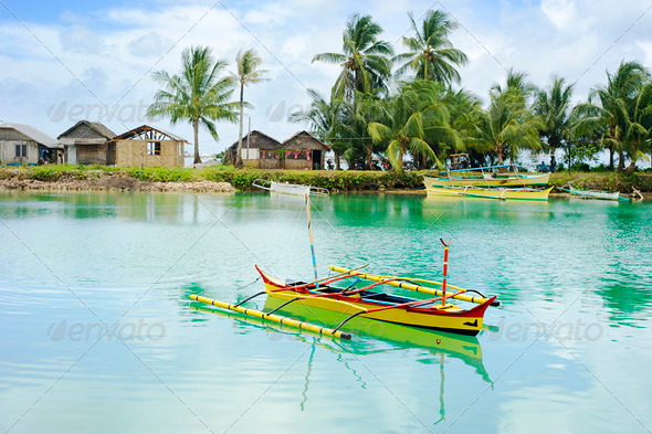 Philippines fishermans village - Stock Photo - Images