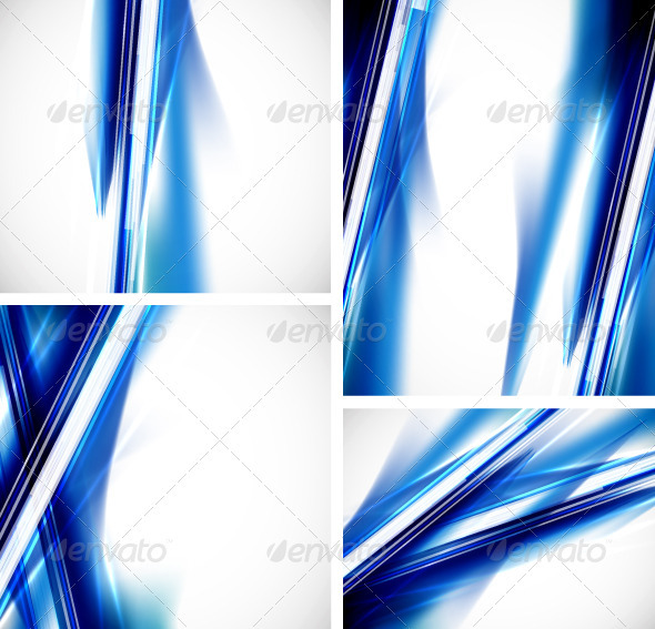 GraphicRiver Vector Blue Lines Backgrounds 3348957