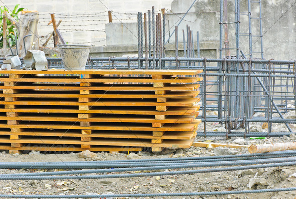 Materials at construction site - Stock Photo - Images