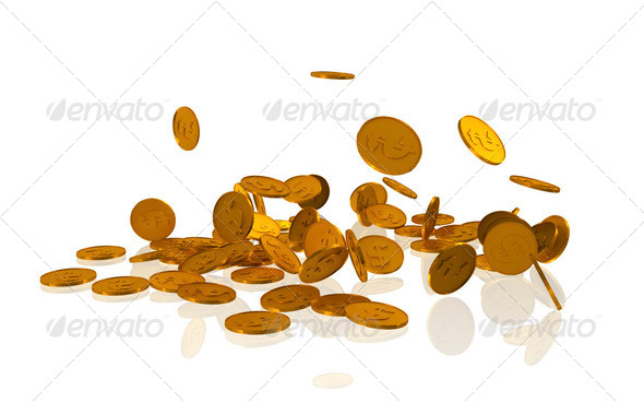 Golden coins - Stock Photo - Images
