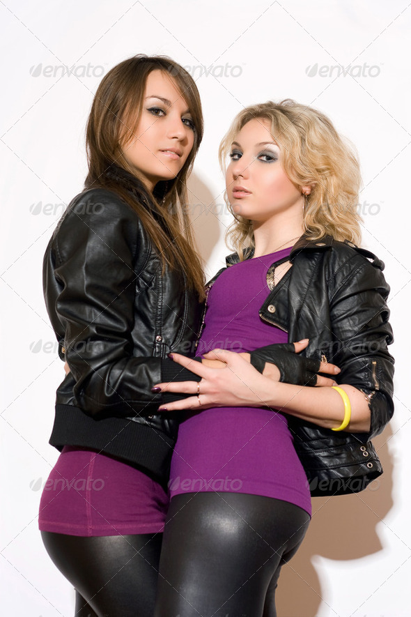 Pleasing two young women - Stock Photo - Images