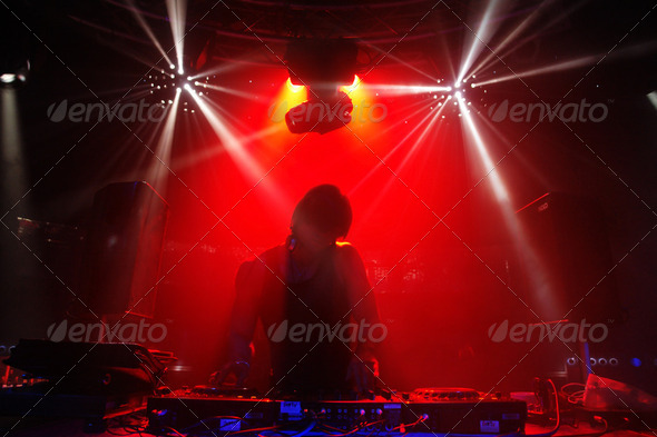Disco DJ Man - Stock Photo - Images
