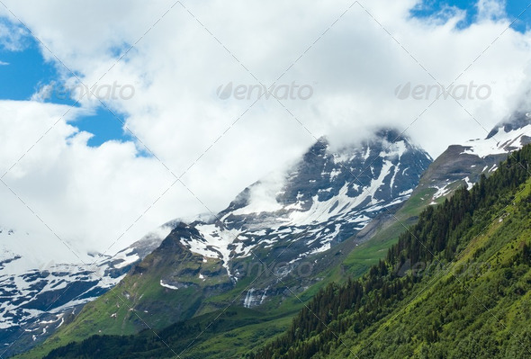 Alps summer view ( June ) - Stock Photo - Images
