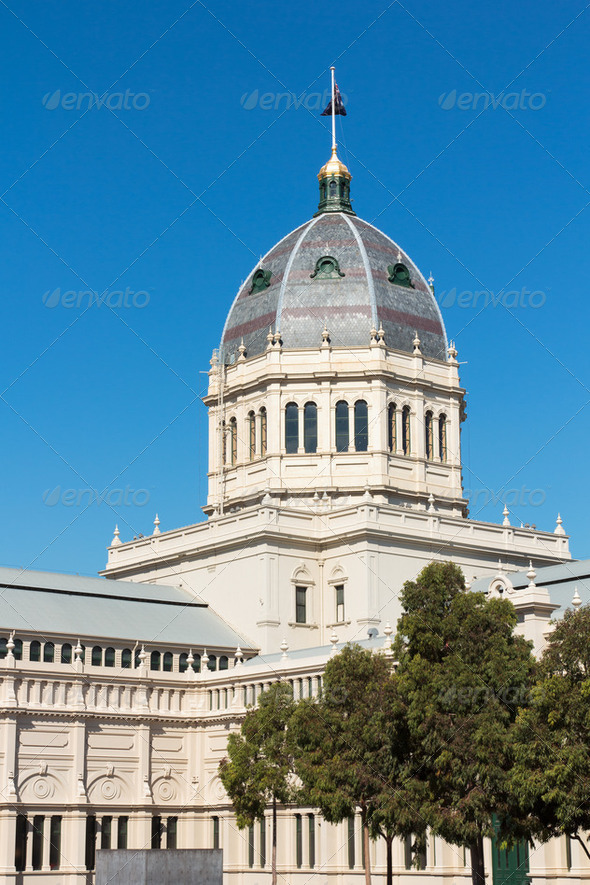 Dome at top of colonial building - Stock Photo - Images