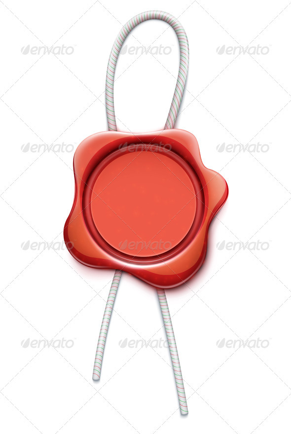 GraphicRiver Red wax seal 3349880