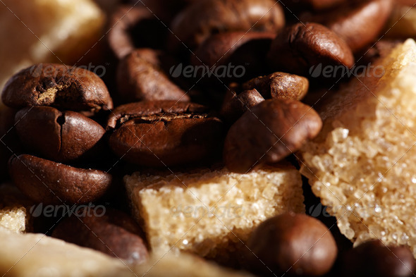 Coffee beans background - Stock Photo - Images
