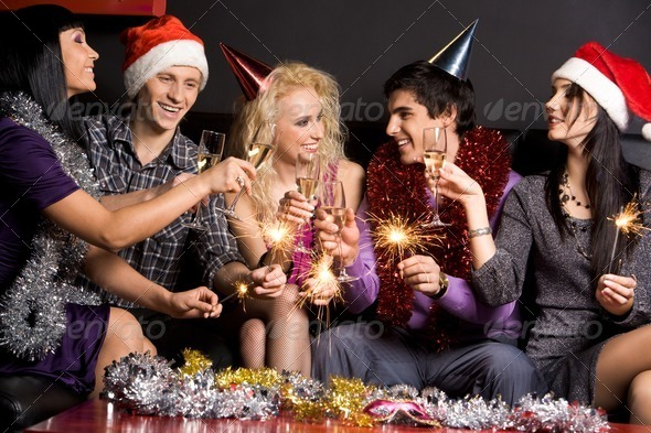 Christmas fun - Stock Photo - Images