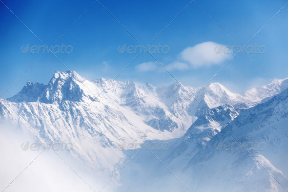 top of alps - Stock Photo - Images