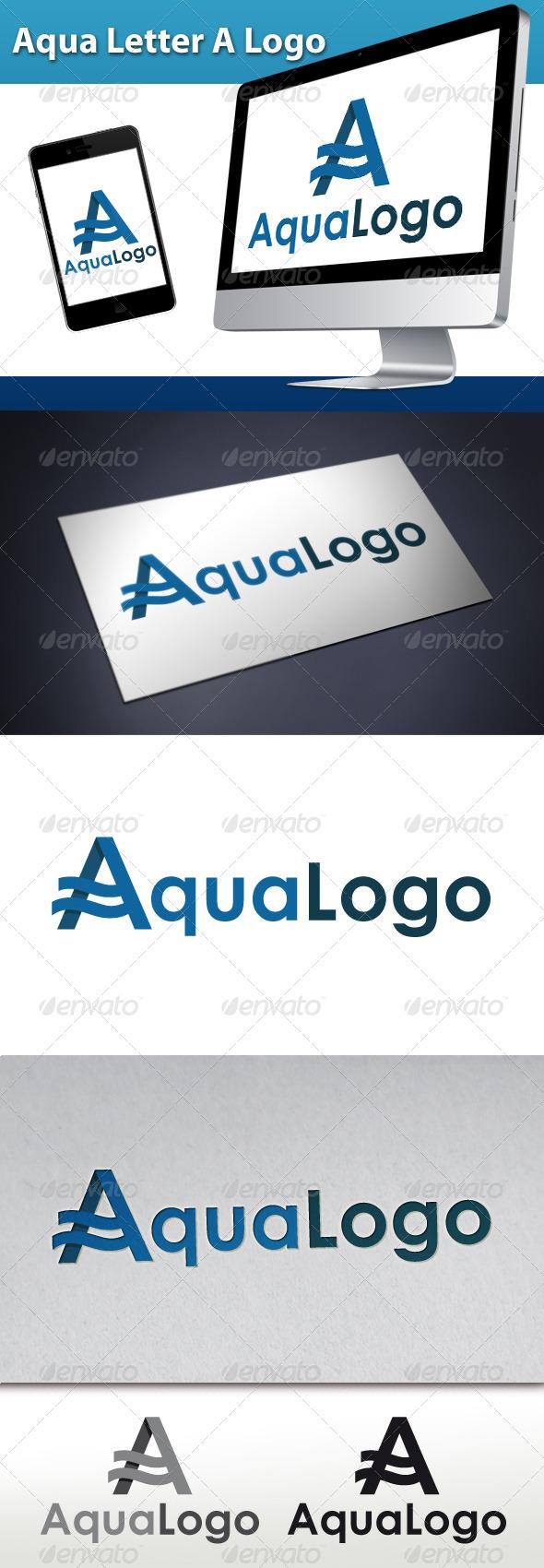 GraphicRiver Aqua Letter A Logo 3337474