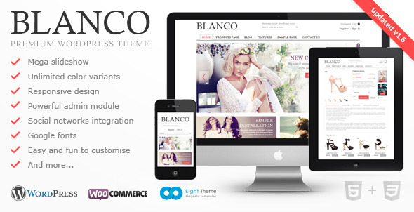 ThemeForest Blanco Responsive WordPress E-Commerce Theme 2755246