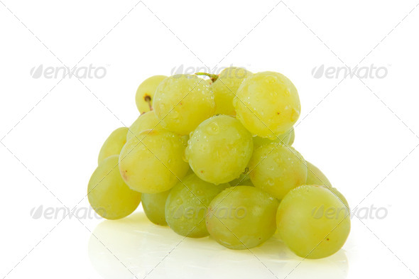 Fresh white grapes - Stock Photo - Images