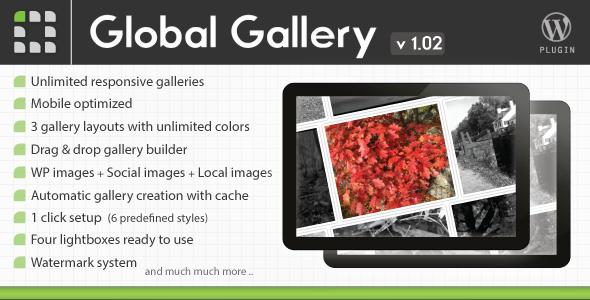 CodeCanyon Global Gallery Wordpress Responsive Gallery 3310108