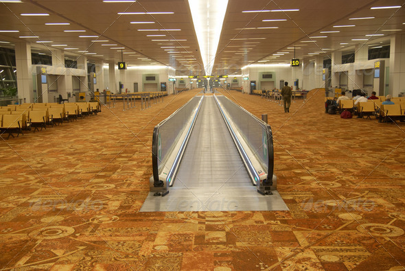 Airport's hall - Stock Photo - Images