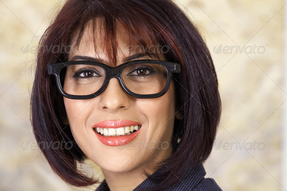 Woman in glasses - Stock Photo - Images