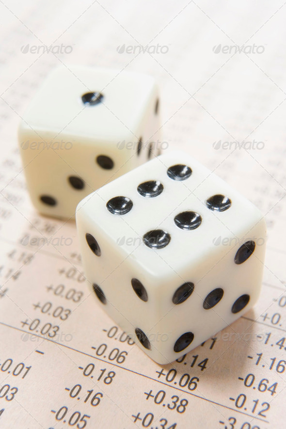 dice and numbers - Stock Photo - Images