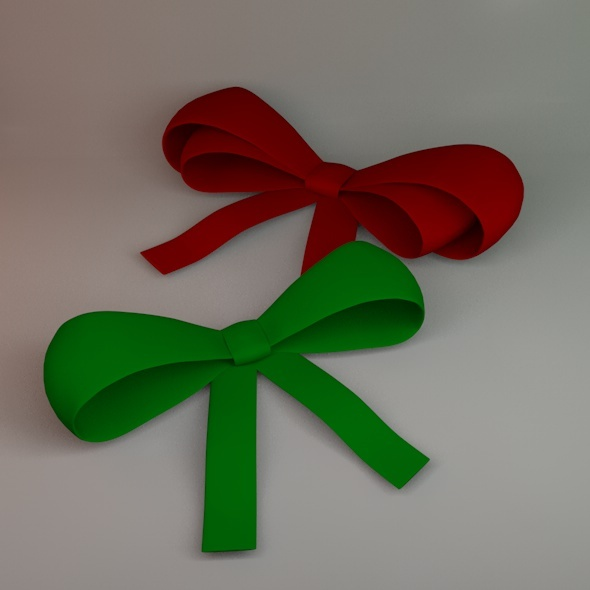 Ribbon Bow - 3DOcean Item for Sale