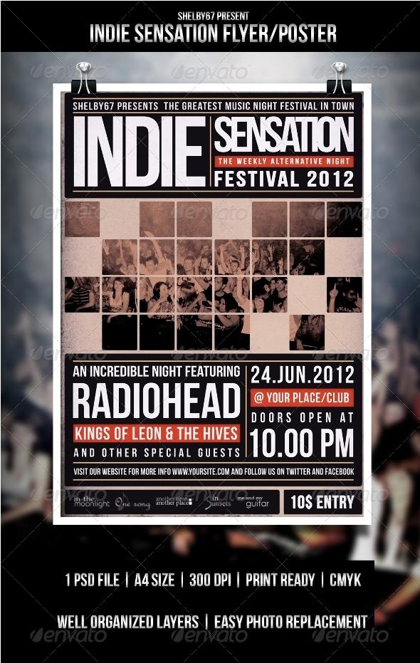 GraphicRiver Indie Flyer Poster Sensation 3350904