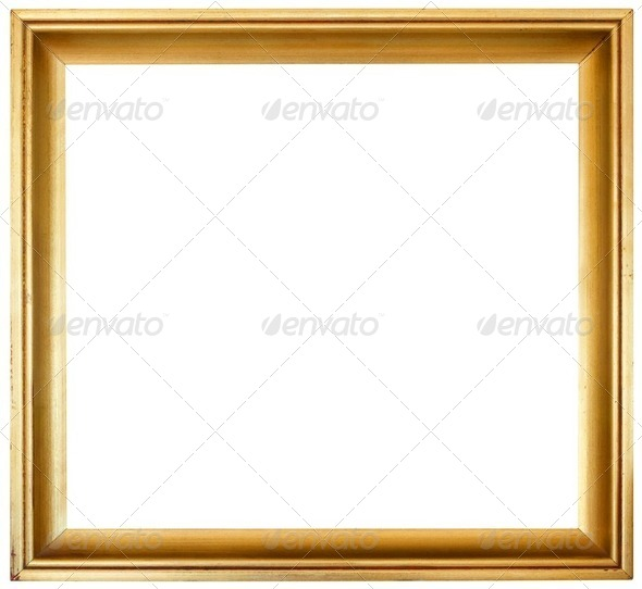 Golden Frame Cutout - Stock Photo - Images