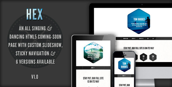 ThemeForest Hex Responsive Coming Soon Template 2900128